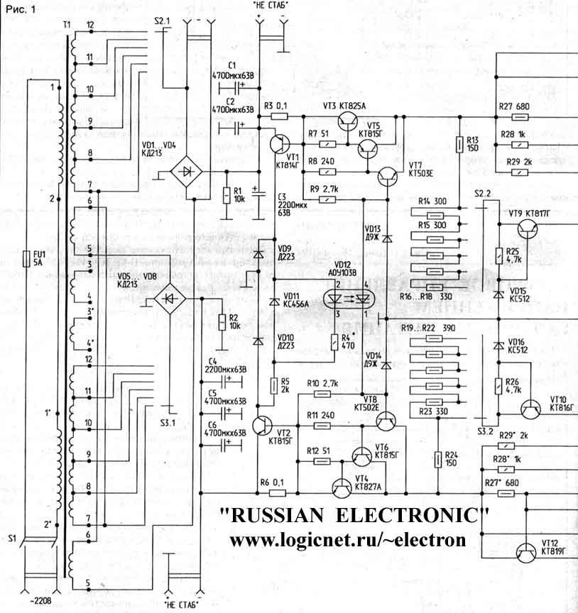 Схемы компьютерных блоков