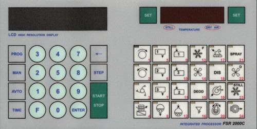 Принципиальная схема.  Внешний вид клавиатуры устройства.